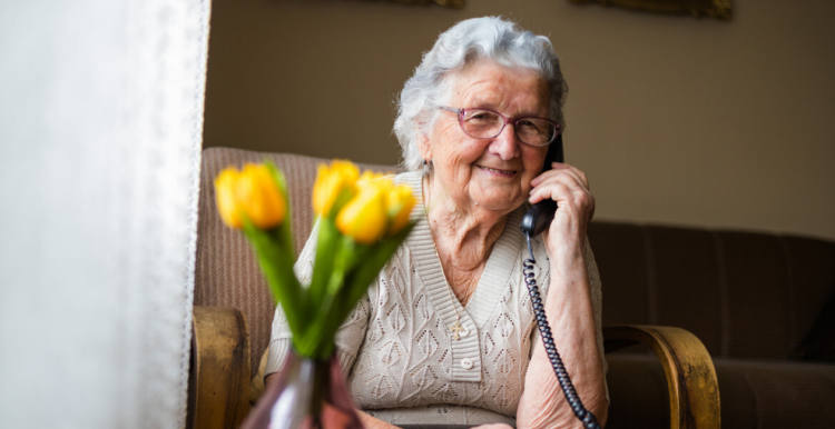 Lady in a care home