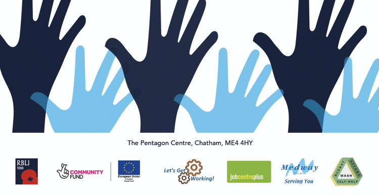 Image of hands and brands involved in the Social Prescribing Day event